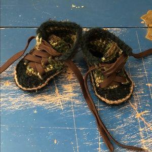 Other - Handmade baby booties-  camo